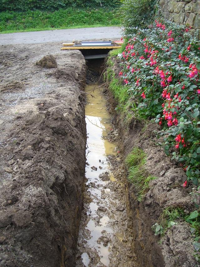 Drainage Du Jardin Dans La Boue